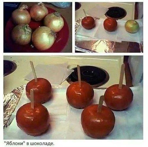 Яблоки в шоколаде