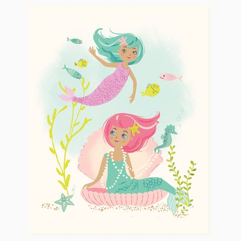 Mermaid wall art  | Sea Urchin Studio #seaurchinstudio