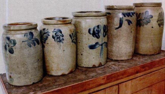 5 Olde Stoneware Crocks...