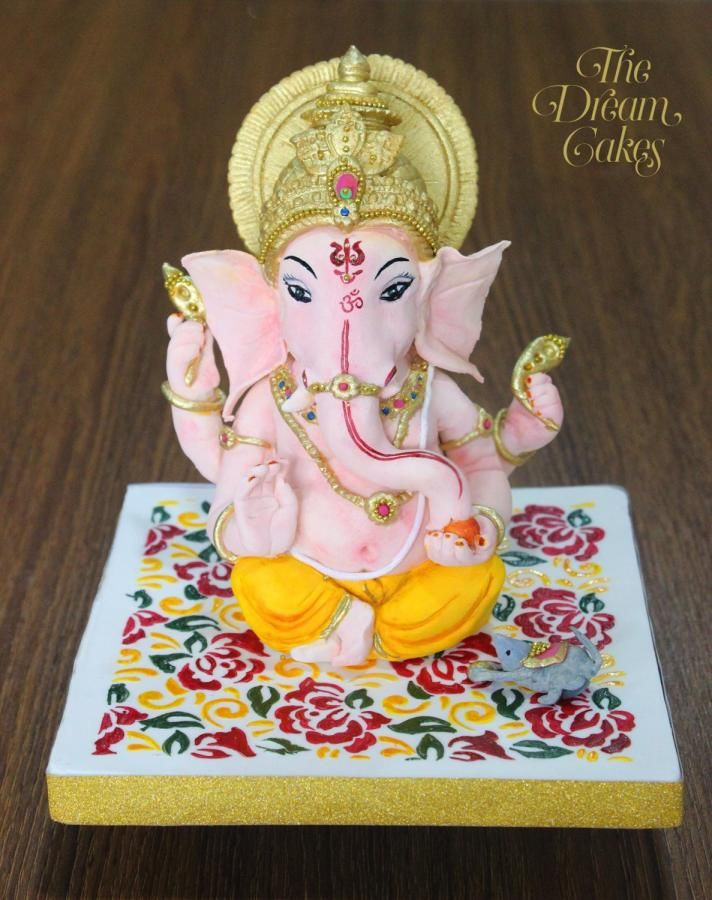 Ganpati Bappa Morya! Incredible India Collaboration - cake by Ashwini Sarabhai