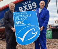 The Marine Stewardship Council certifies sustainable seafood companies.  Look for the logo when buying seafood to make a difference and protect our marine life from being overfished.