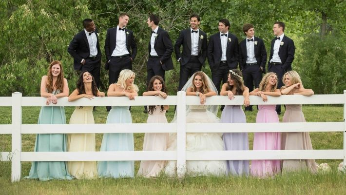 Eric and Jessie Decker- Their wedding= Perfection. Bridesmaid dresses <3 colours!!