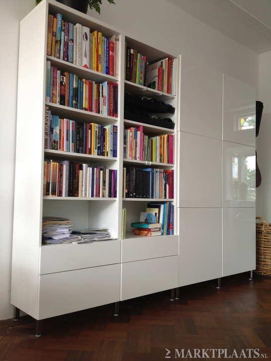 Marktplaats.nl > Ikea Besta witte hoogglans kast - Huis en Inrichting - Kasten | Boekenkasten