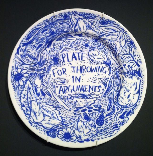 Illustrated Ceramics | blue and white | 陶器, 皿, 粘土