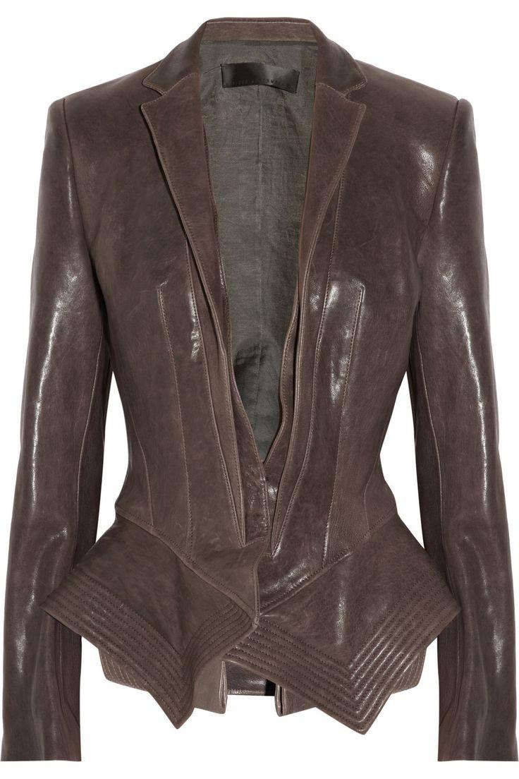 Haider Ackermann - a peplum leather jacket? Awesome. | Women's ...