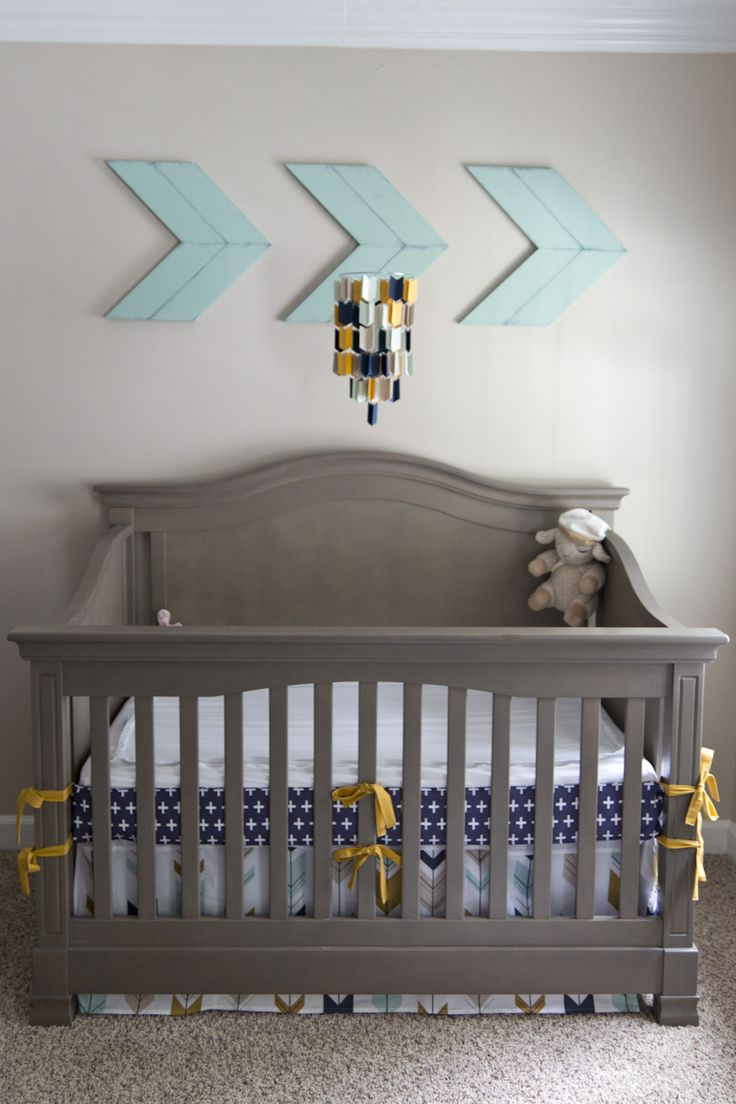 This way to an awesome arrow inspired boys nursery -->