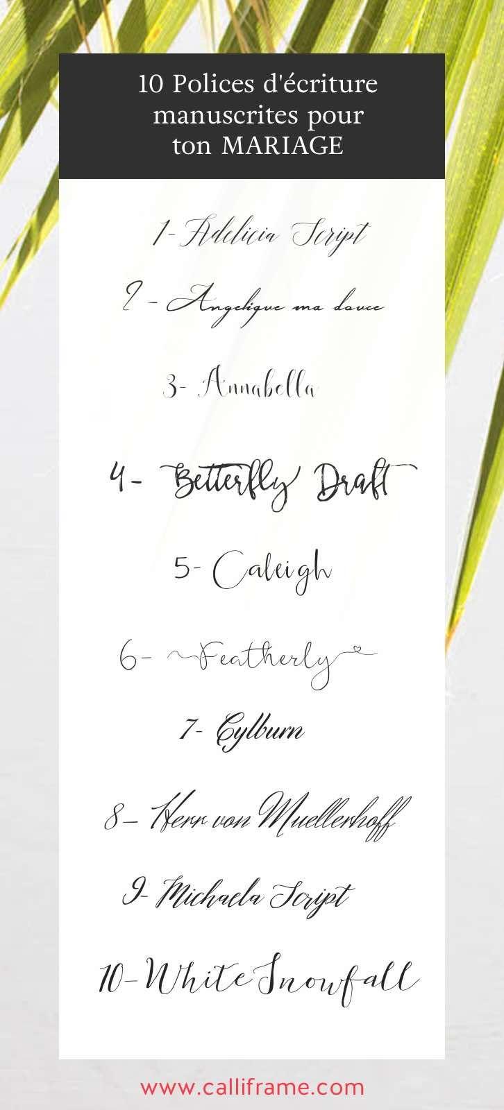 Les 25 meilleures id es de la cat gorie polices de calligraphie de mariage sur pinterest - Police ecriture tatouage ...