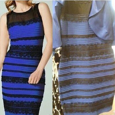 Robe blanche et doree ou bleu et noir explication