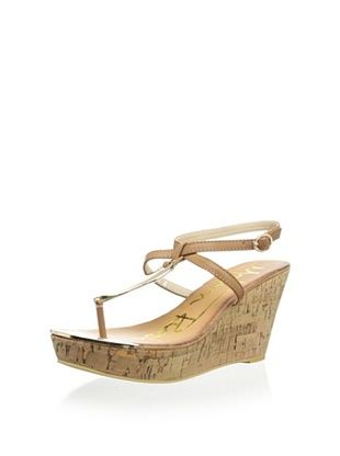 Modern Rush Women's Bell Wedge Sandal (Tan) MyHabit.com