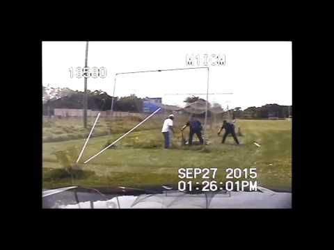 VIDEO: Police Officers rescue a deer from batting cage net in KALAMAZOO | Interesting things
