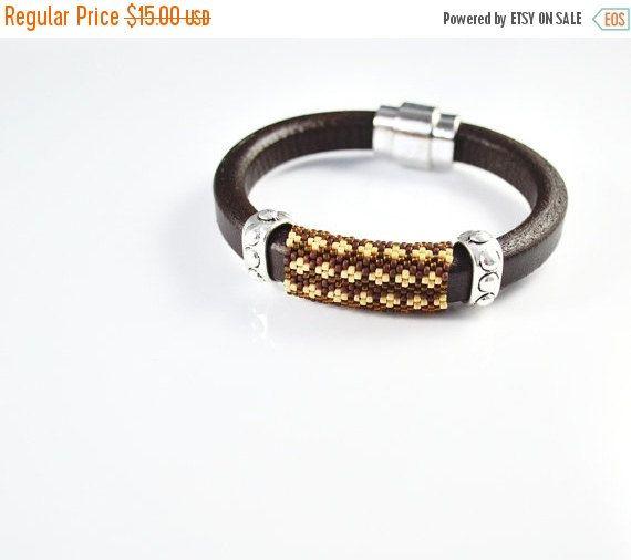 SUMMER SALE Men's braided bracelet strap bracelet for men , men's brown bracelet , men's leather bracelet , gift for him , male model