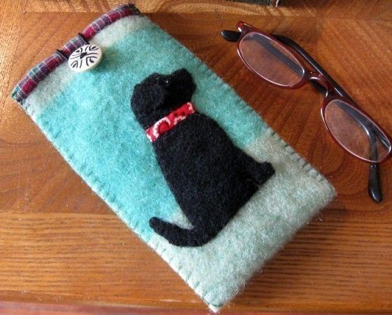 You'll be better able to see just how cute your dog is, when you keep your eyeglasses and sunglasses protected in this cozy wool case.    Made of