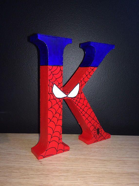 Superhero Letter Handpainted - Marvel, Avengers, Spiderman, Batman, Hulk, Batman, Thor, Ironman, Superman Name, Initial, Number - Birthday