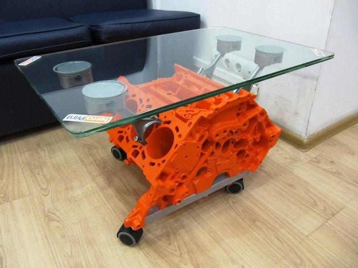 Мастерим необычный стол из блока цилиндров двигателя - Ярмарка Мастеров - ручная работа, handmade