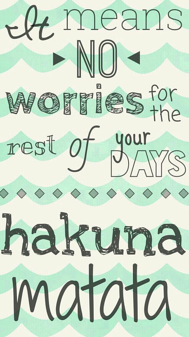 Wallpapers Pinterest Hakuna Matata Cute And