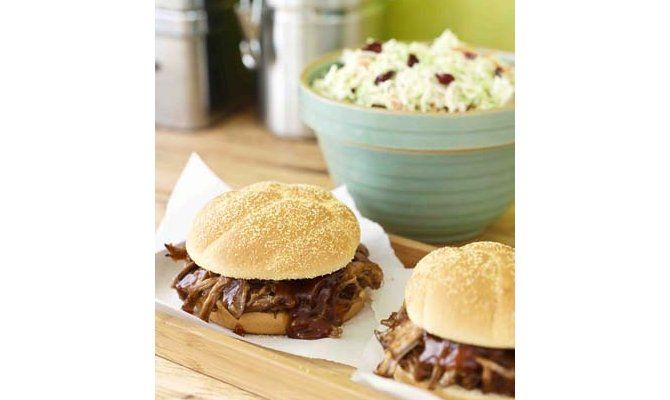 Pulled Pork Sandwiches with Coleslaw Recipe