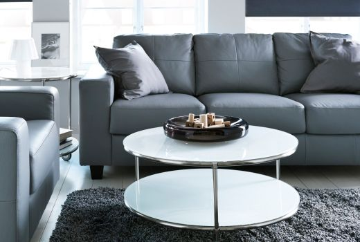 IKEA Grey Leather Sofas