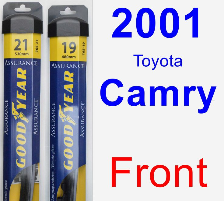 front wiper blade pack for 2001 toyota camry assurance. Black Bedroom Furniture Sets. Home Design Ideas