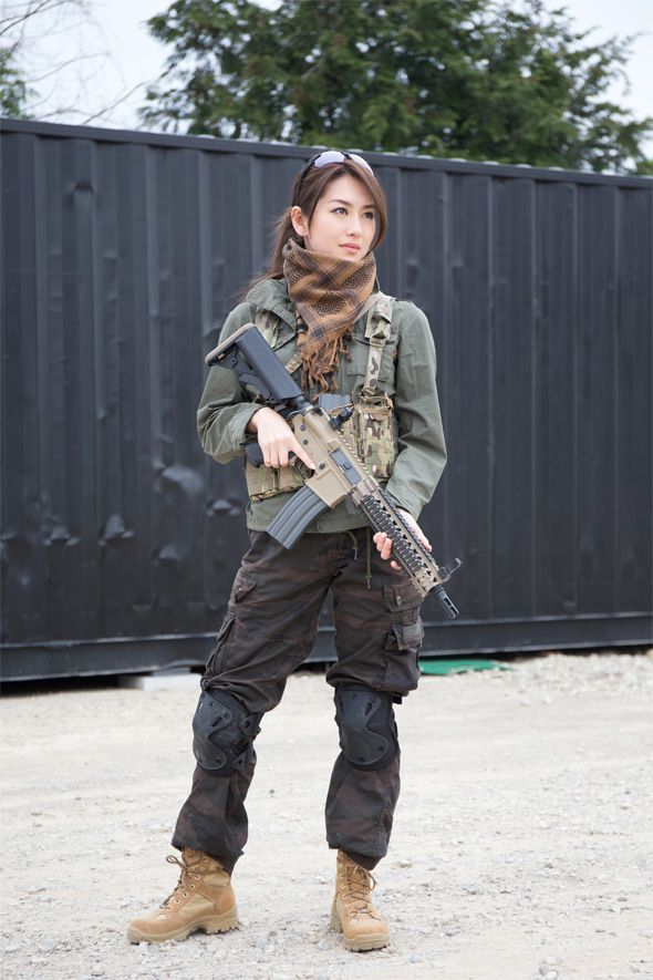 Absolutely useless. Japanese girls with airsoft guns shooting