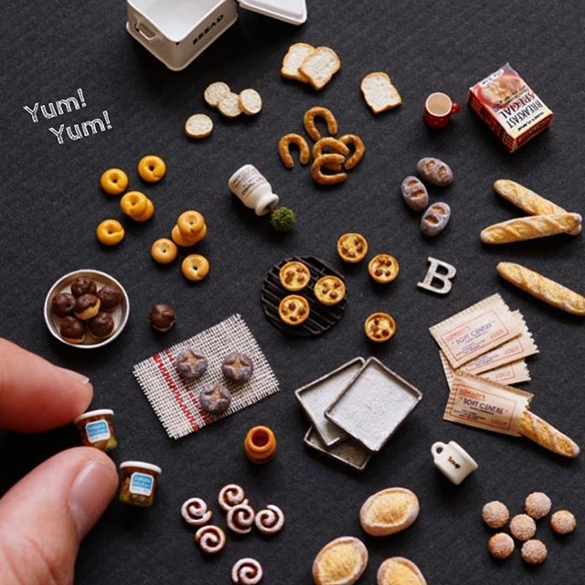 Bread and pastry miniatures by ochibits