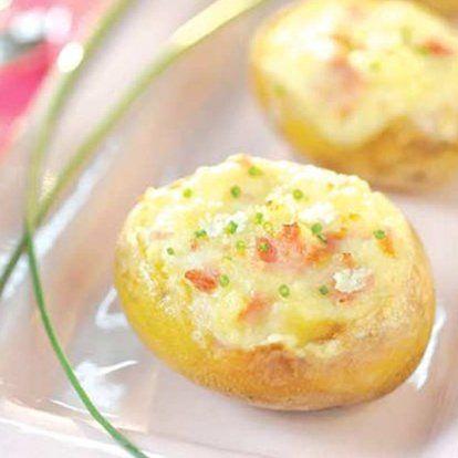 Pomme de terre Samba Gourmande au fromage frais carré frais #recette #fromage #facile