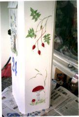 målad postlåda