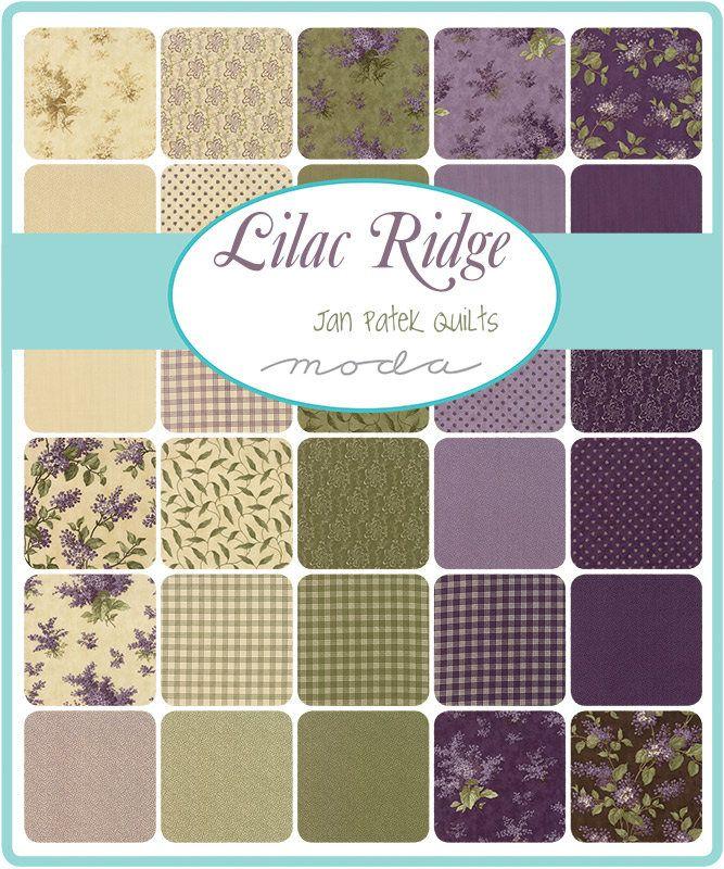 Lilac Ridge Charm Pack Jan Patek For Moda 5 Inch Precut Fabric Squares Purple Green Brown Charm Moda Fabric Quilts Moda Fabric Collections Lilacs Fabric