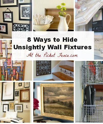 How to Hide Unsightly Wall Fixtures, Outlets, Phone Jacks and Vents from www.atthepicketfence.com