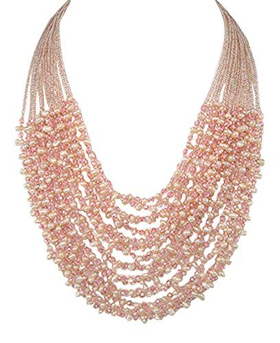 925 Sterling Silver Zinc Crystal Glass Seed Bead Peach Multi-row Graduated Women's Statement Necklace 19-21 inches 925e http://www.amazon.co.uk/dp/B018R0INLM/ref=cm_sw_r_pi_dp_Tgu7wb0C8WXST