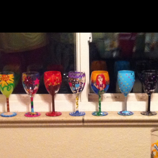 17 best images about cleopatra ideas on pinterest glass for Diy painted wine glasses