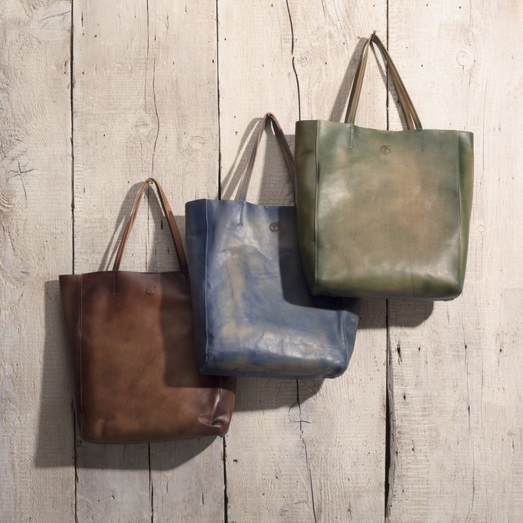 Wingate Leather Shopping Bag #timberland #brown #blue #green #hazel #handbag #tote