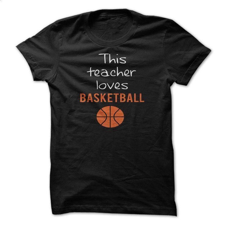 THIS TEACHER LOVES BASKETBALL T Shirts, Hoodies, Sweatshirts - #t shirt design website #funny shirt. GET YOURS => https://www.sunfrog.com/Sports/THIS-TEACHER-LOVES-BASKETBALL.html?60505