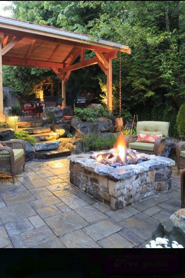 Awesome Bon fire pit patio!!
