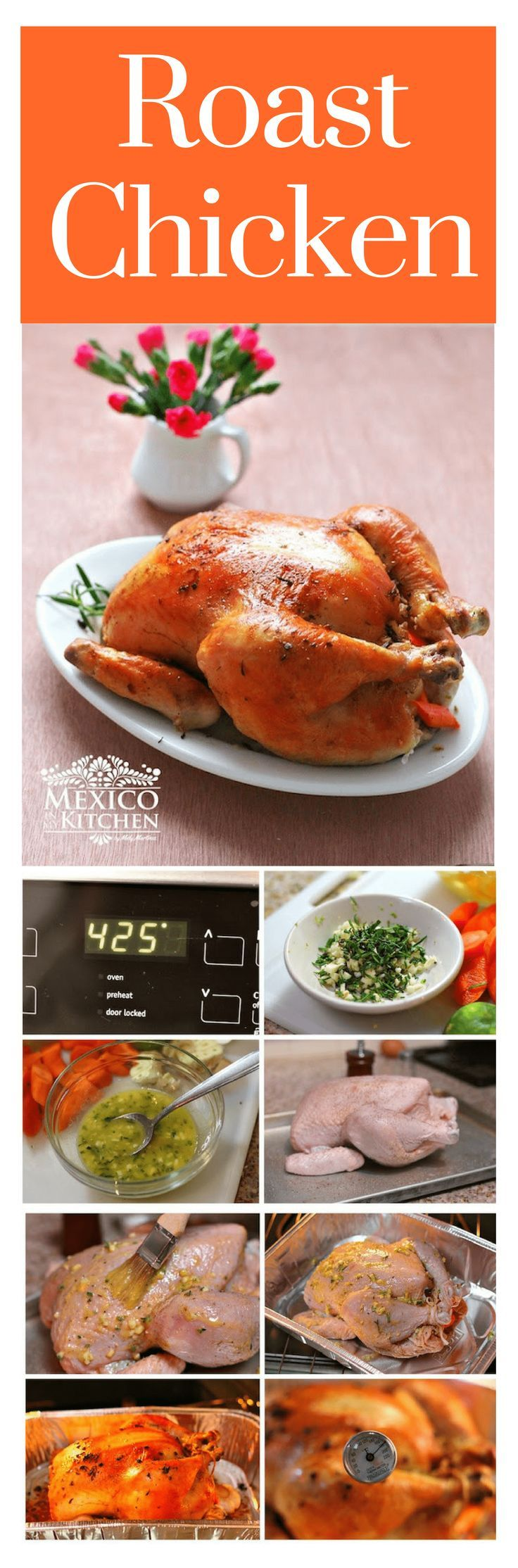Roast chicken is popular all over the country, and it has a few variations according to the region. Several prefer to add a dried pepper adobo, while others just season it with herbs, like in this recipe #mexicanrecipes #mexicancuisine #chicken #homecook
