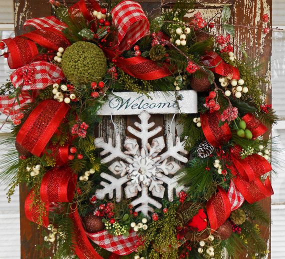 welcome christmas wreath on - photo #13