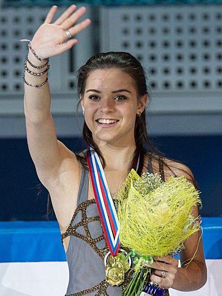Adelina Sotnikova of Russia, gold medalist in the ladies figure skating singles event @ Sochi