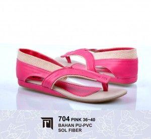 Jual Sandal Teplek Cewe Warna Pink Lucu Murah Online