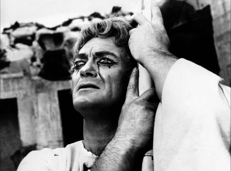 Jean Marais (Œdipe) en el Testamento de Orfeo (1959)