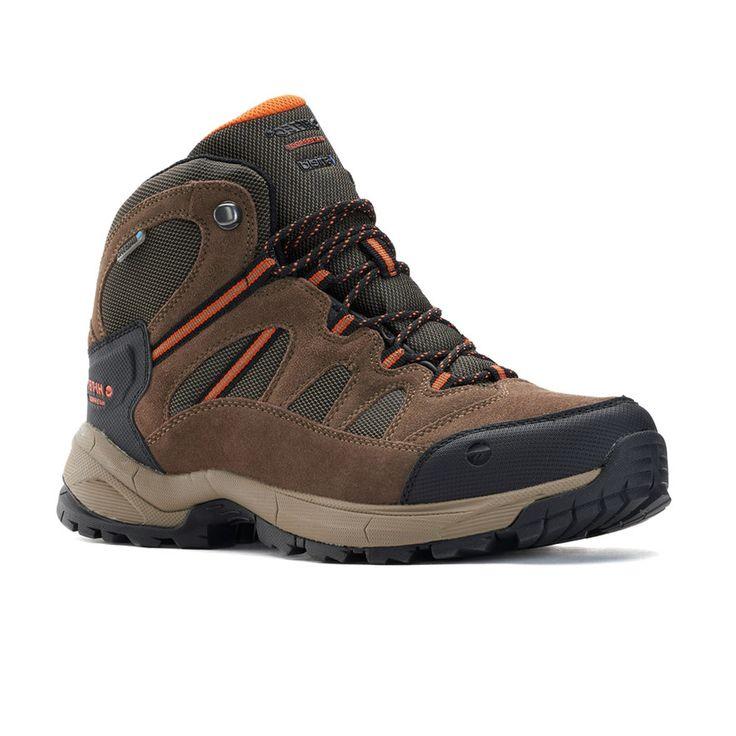 Hi-Tec Ridge Mid Men's Waterproof Hiking Boots, Size: medium (10.5), Med Brown