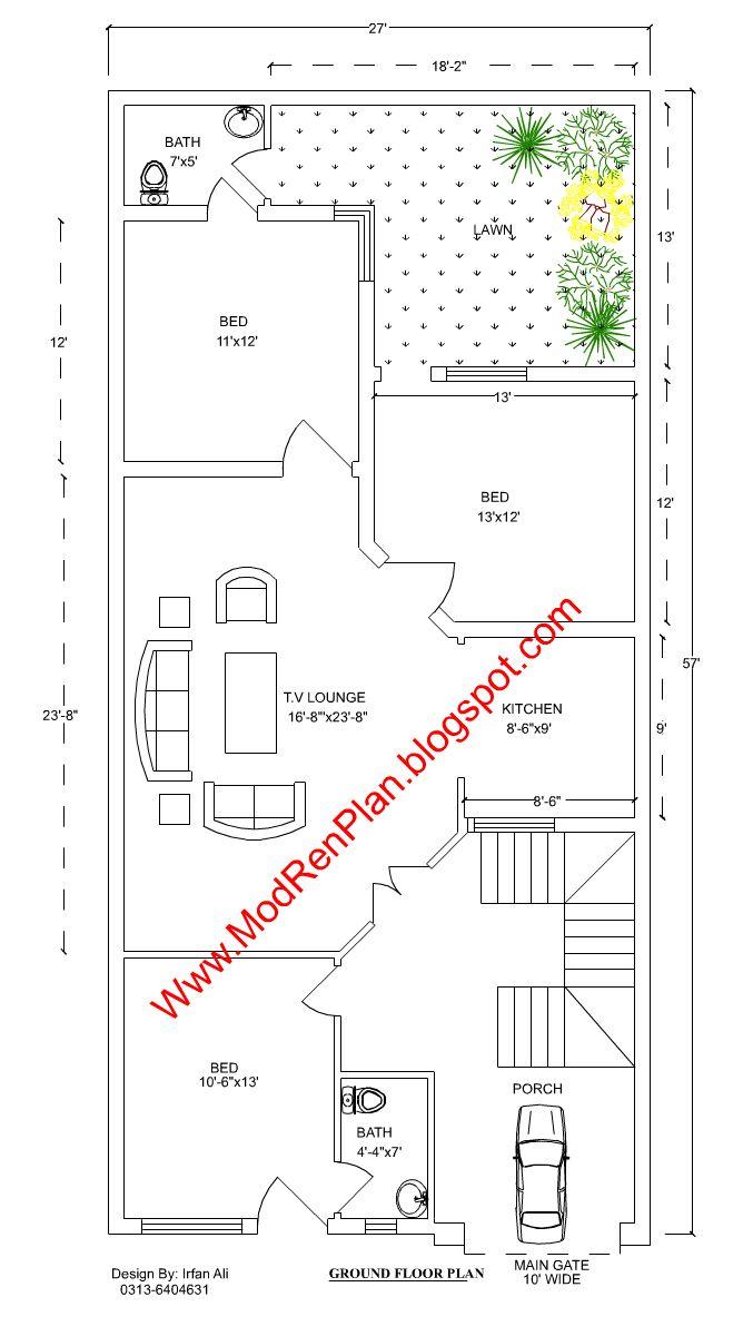 Best Home Plans Images On Pinterest Home Plans House Floor - 5 marla house design exterior