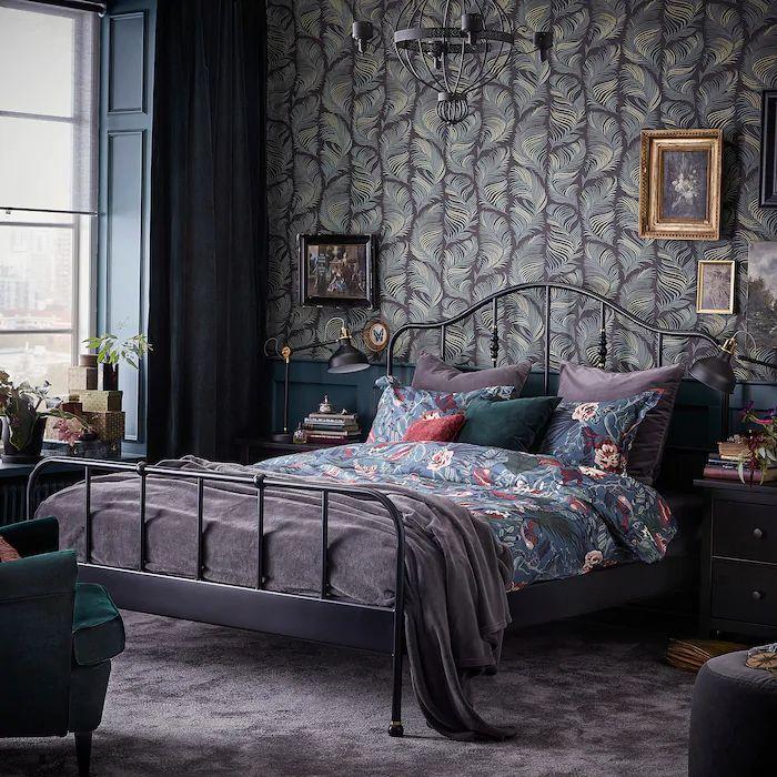 SAGSTUA Bed frame, black, Full IKEA