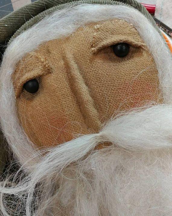 Primitive+Santa+Folk+art+Santa+Stump+doll+Santa+doll+Christmas