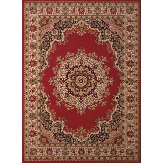 United Weavers of America Dallas Floral Kirman Red Area Rug