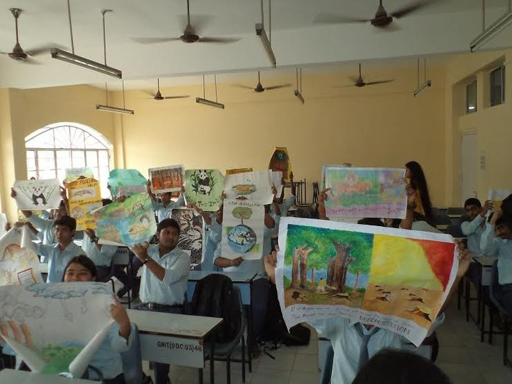 """2.The exhibition of  posters by the 1st year students  on  various topics related to the Environmental Study with emphasis on """"Wild-Life-and-its-Protection-GNIT""""  in their respective classrooms from 12:30 PM onwards on 12.11.14"""
