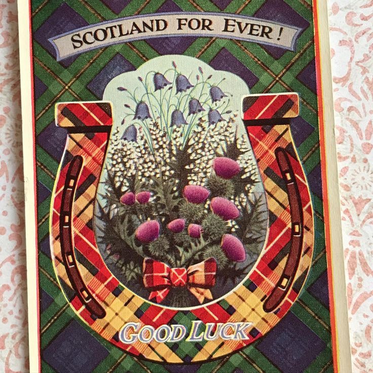 Scotland For Ever Vintage Postcard, a Good Luck Card with