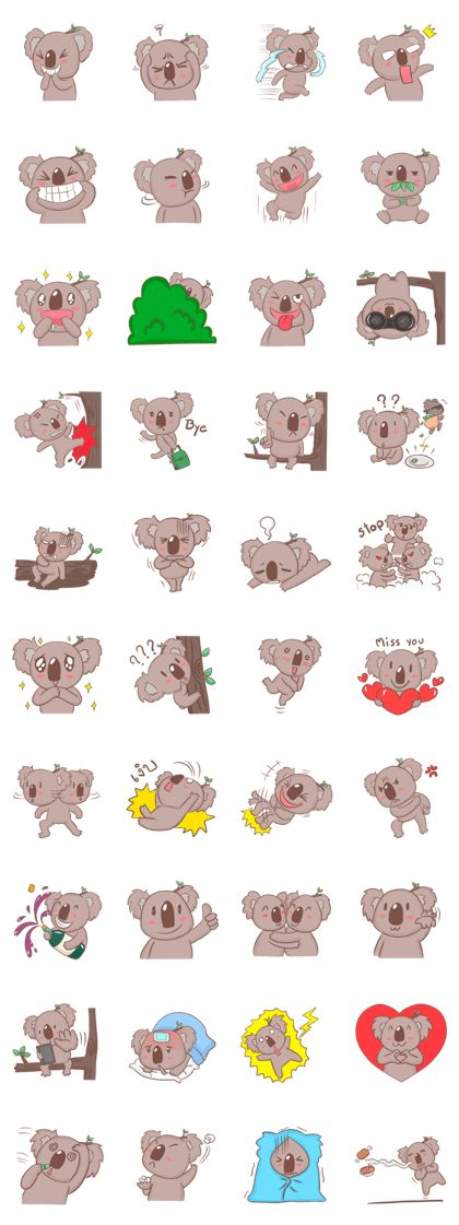 A little young Koala Bear with very cute characters that lives with your daily chat. Please share love and use as your emotions instead.