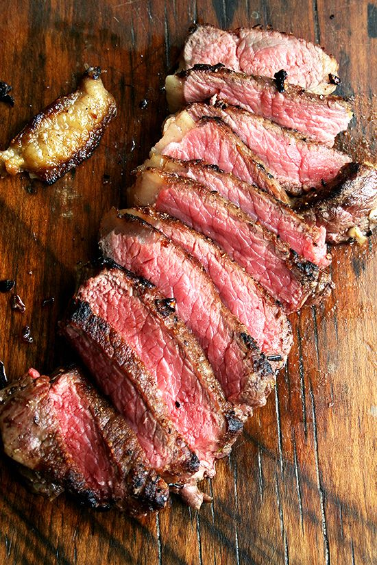 Pan-Seared, Oven-Finished New York Strips with Balsamic Caramel [alexandra's kitchen]