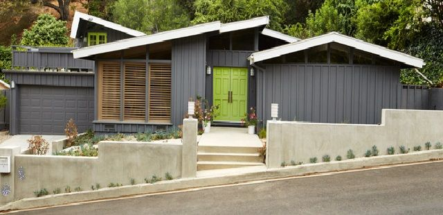 Mid-Century Modern Home Exterior Colors