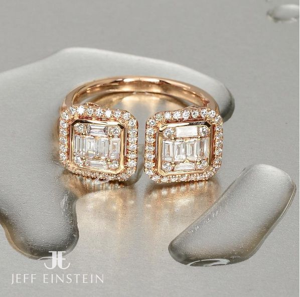 A stunning 18ct rose gold baguette and round brilliant cut diamond ring, now in store  #JeffEinstein #JeffEinsteinJewellery #JeffEinsteinJewelry #RoseGold #DoubleBay #Sydney
