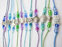 Bastelset 5 Armbänder Meerjungfrau Nixen Fisch